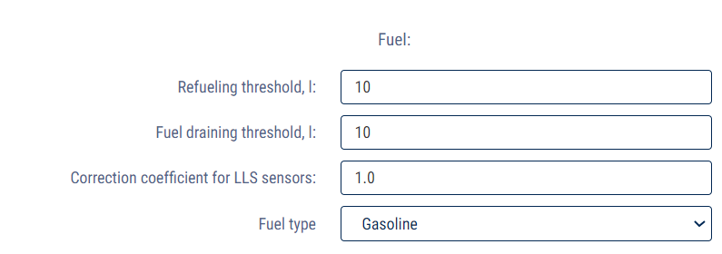 Fuel section