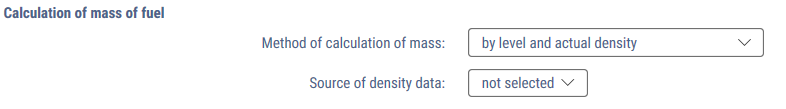 Method by level and actual density