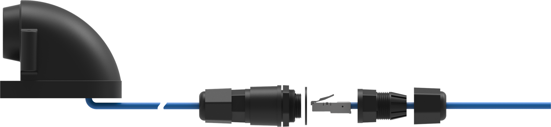 Connector on the part of videocamera